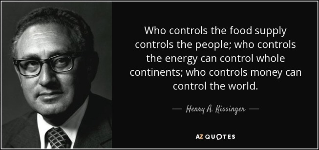 Kissinger Quote - Control